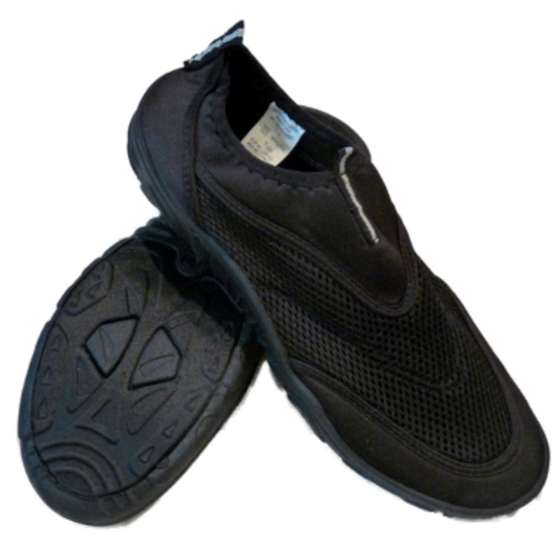 Surf Bay Mens Black Slide On Aqua Socks Beach & Water Shoes