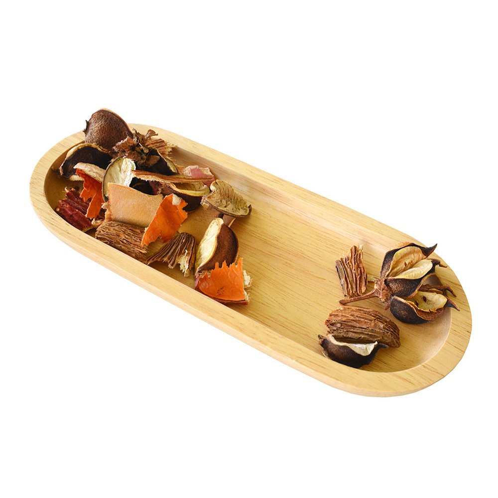 "HOMU Modern Style Potpourri Wooden Dish Tray, 7.5"" Decorative Potpourri Display Container Decorations"