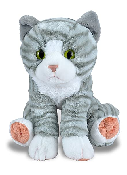 Wild Republic Tabby Cat Plush, Stuffed Animal, Plush Toy, Gifts for Kids,