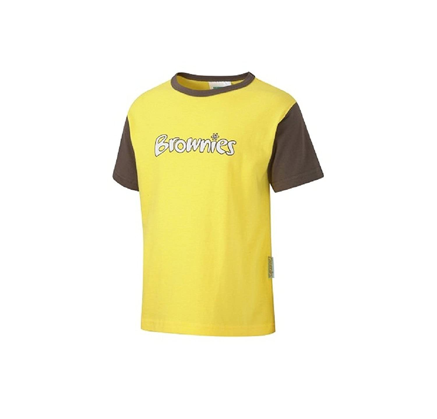 Sizes Yellow Gelb Brownie Girls Guide Short Sleeve 24