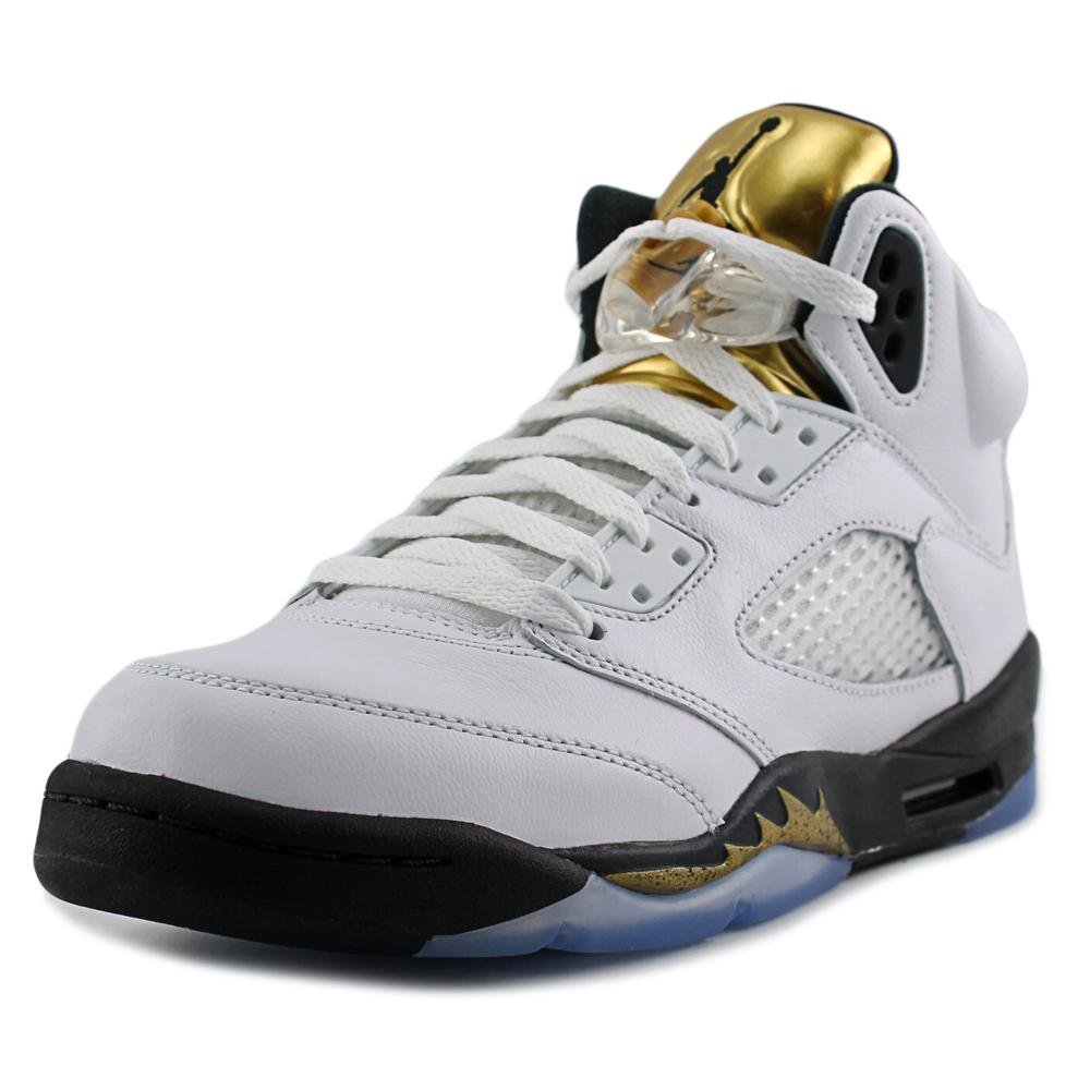 2a9b4b8fd96b60 Nike Men s Air Jordan 5 Retro Bg Basketball Shoes Blue  Amazon.co.uk  Shoes    Bags