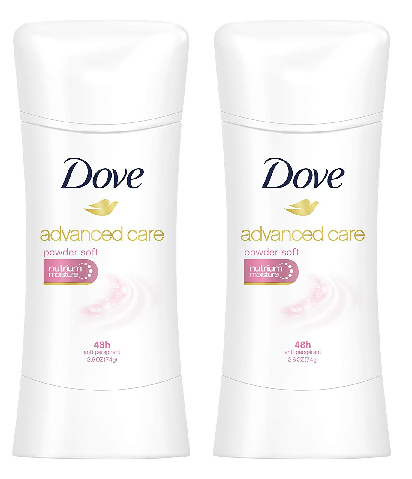 Deodorant for Women by Dove Advanced Care | Powder Soft Scent Antiperspirant | Grande 2.6 Oz. 2 pack