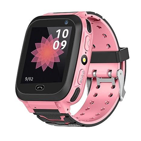 Vbestlife Reloj Inteligente GPS para Niños Tracker Smartwatch con Pantalla Táctil Impermeable Podómetro Soporte Teléfono SIM