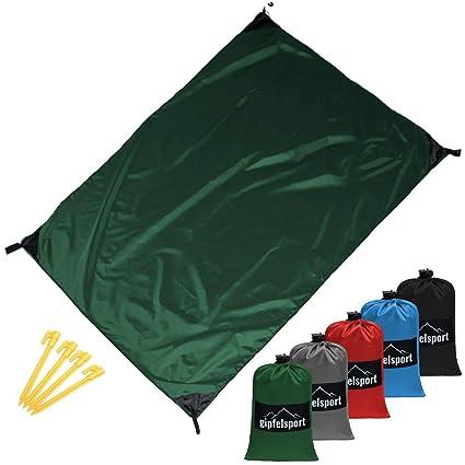 Minetom Manta de Picnic Camping y Picnic 200 X 200cm Alfombra de Playa Impermeable Manta de Bolsillo Ultraligera Ideal para Viajes