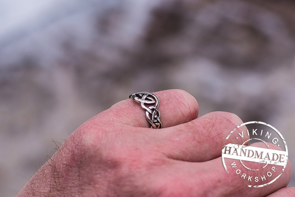 Amazon.com: Cetic Ornament Ring Handmade Sterling Silver Celtic Ring ...