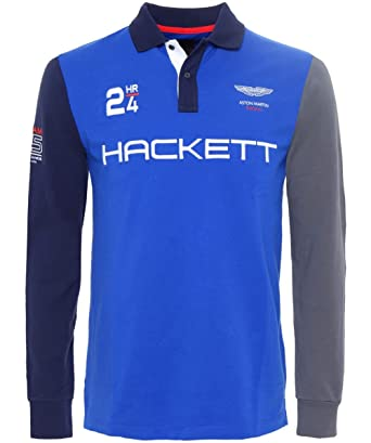 Hackett Camisa de Polo de Manga Larga de Aston Martin Racing Azul ...
