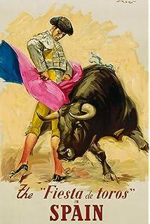 Amazon.com: BULLFIGHT vintage ad poster BARCELONA SPAIN 1935 ...