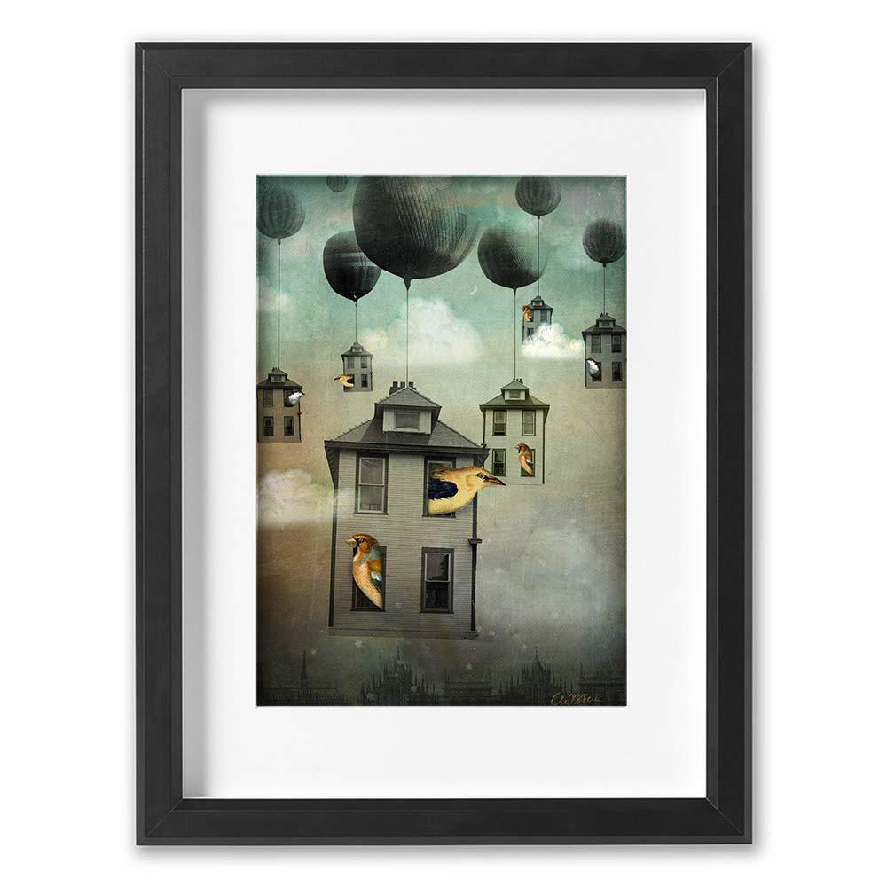 K/ünstler Catrin Welz-Stein A2 Zaubern Hochwertiger Kunstdruck 420 mm x 594 mm Frau mit Schloss Poster Print Abrakadabra Brillante Farben Print