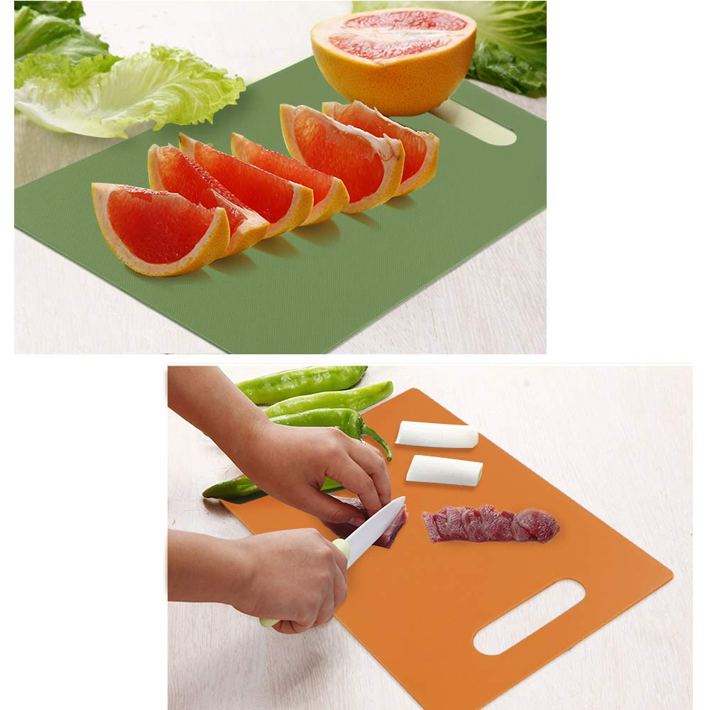 Chopping Board Set of 4 Cutting Boards with Hanging Hole Joycky Colored Cutting Board