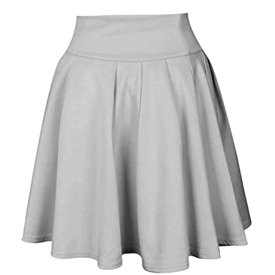 197a0fcc56aa Image Unavailable. Image not available for. Color: Sexy School Girls Short  Skirts Womens A-Line Party Cocktail Mini Skirt Ladies High Waist