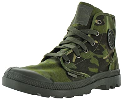 86a1e7cf3d Palladium Pampa Hi Men's Combat Boots Camo Tactical Green Size 8: Buy  Online at Low Prices in India - Amazon.in