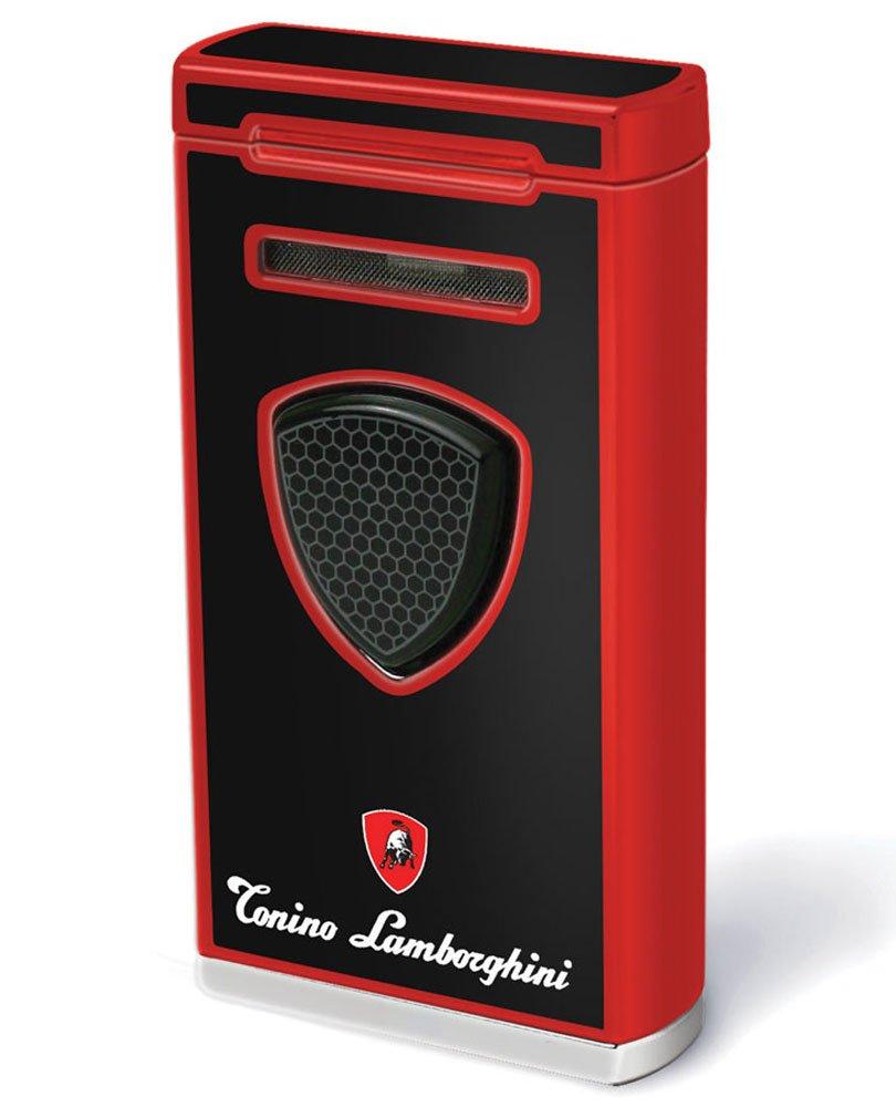 Tonino Lamborghini Pergusa Black And Red Torch Flame Lighter
