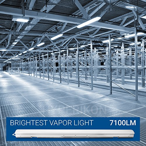 Hyperikon LED Vapor Proof Fixture 70W (150W Eq),7200Lm, 5000K (Crystal White Glow), UL & DLC 4.2, Clear Cover, Waterproof,IP65, 120-277v, Garage Lighting, Car Wash, Warehouse, Walk in Freezer, 1-Pack by Hyperikon (Image #2)