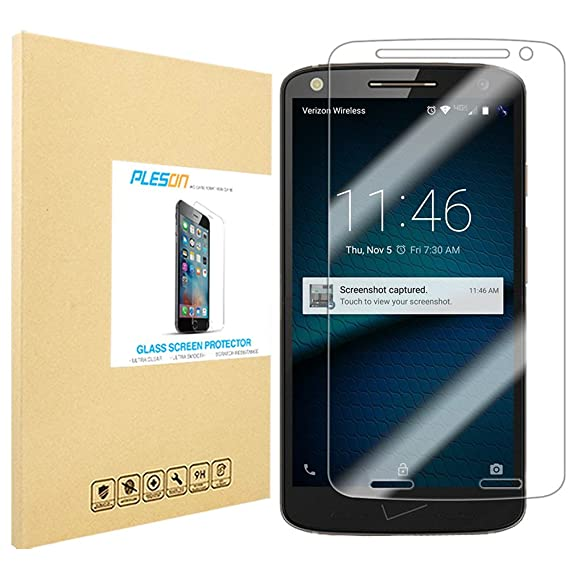 Droid Turbo 2 Screen Protector [Full Coverage], PLESON Moto X Force/Droid