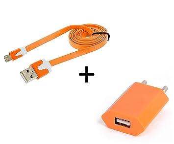 Shot Case - Cable Noodle 1 m Cargador + Toma Corriente para ...