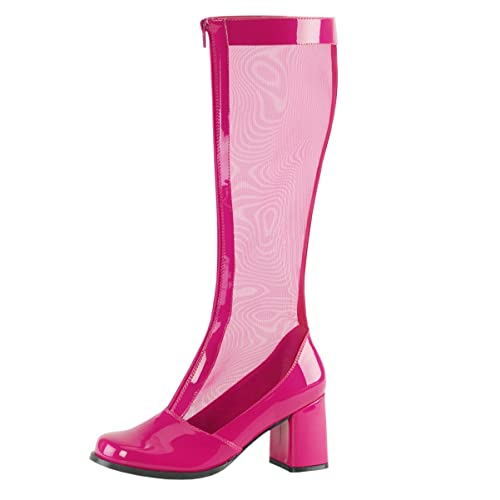 quality design preview of 100% top quality Amazon.com | Summitfashions Womens Hot Pink Boots Mesh Knee ...