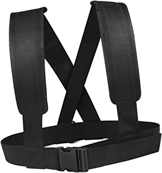 color negro para mujeres y hombres entrenamiento de fuerza correa de resistencia Aiecis Chaleco de arn/és con almohadilla para los hombros