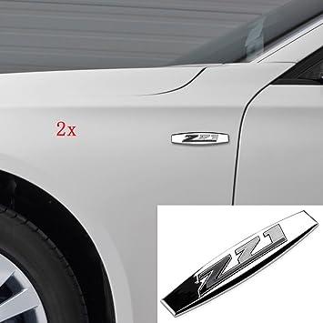 Yoaoo2x OEM Chrome Red Z71 Emblems for GMC Chevy Silverado Sierra Tahoe Suburban