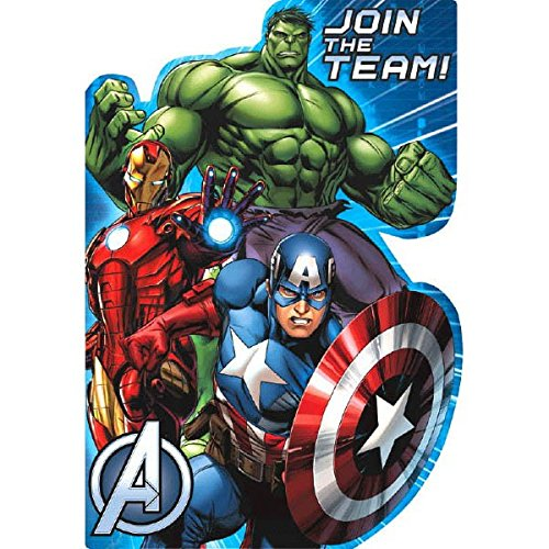 [8 Count Avengers Invitations, Multicolored] (Incredible Hulk Costume Ideas)