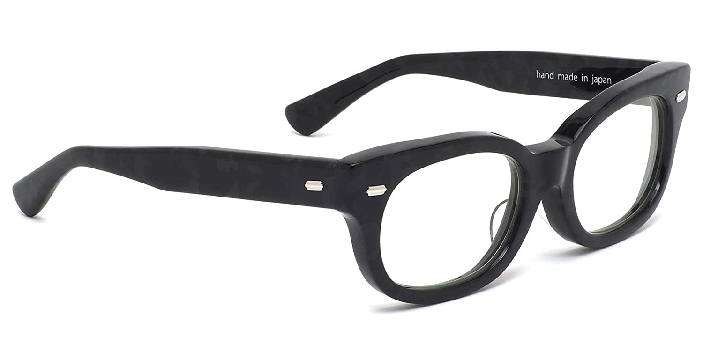 【エフェクター国内正規品販売認定店】FUZZ BKCA 52サイズ EFFECTOR (エフェクター) メガネ 伊達メガネレンズ付き fuzz ファズ 日本製 UVカット仕様 伊達メガネレンズ付 メンズ レディース B07F61LC1W フレームのみ フレームのみ