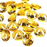 "Homeford FPF0750433GD 240 Piece Acrylic Diamond Gemstone Table Scatter, 3/4"", Gold"