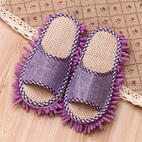 Microfiber Cleaning Slippers-1 Pair