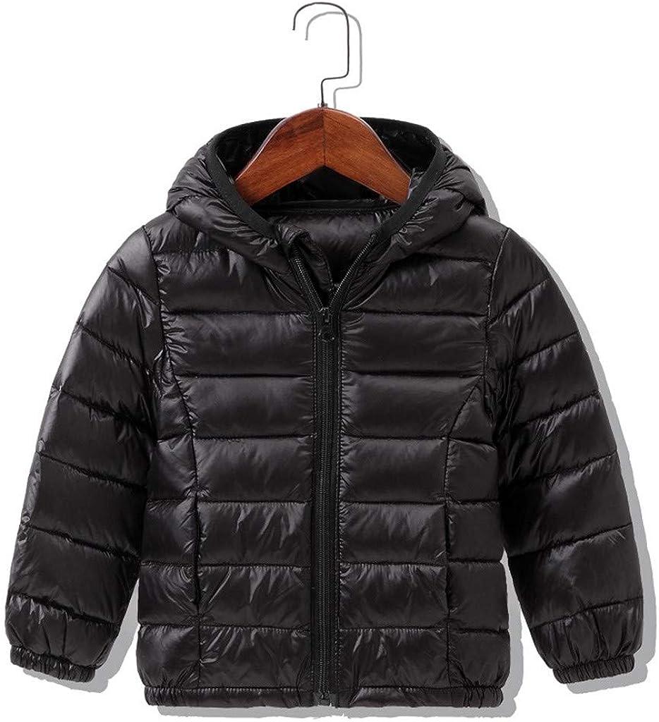 OHQ Kinder Junge Daunenjacke Ultraleichte Herbst Winter Warme Jacket Steppjacke Daunenmantel Leicht /Übergangsjacke Mit Kapuze Jacke