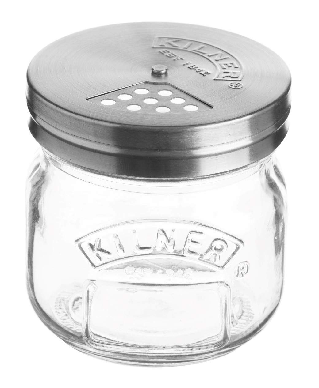 Kilner Storage Jar with Shaker Lid, Store and Serve Parmesan, Dried Herbs, and Sprinkles, 8-1/2-Fluid Ounces
