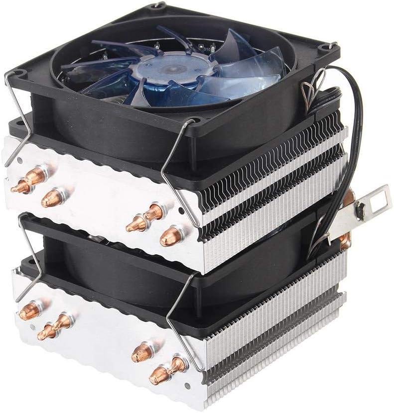 CPU Liquid Cooler Tubos de cobre de 3 pines Seis calor azul retroiluminada ventilador de la CPU Compatible con 775 1150 1151 AMD Compatible con sockets Intel y AMD ( Color : Blue , Size : One size )