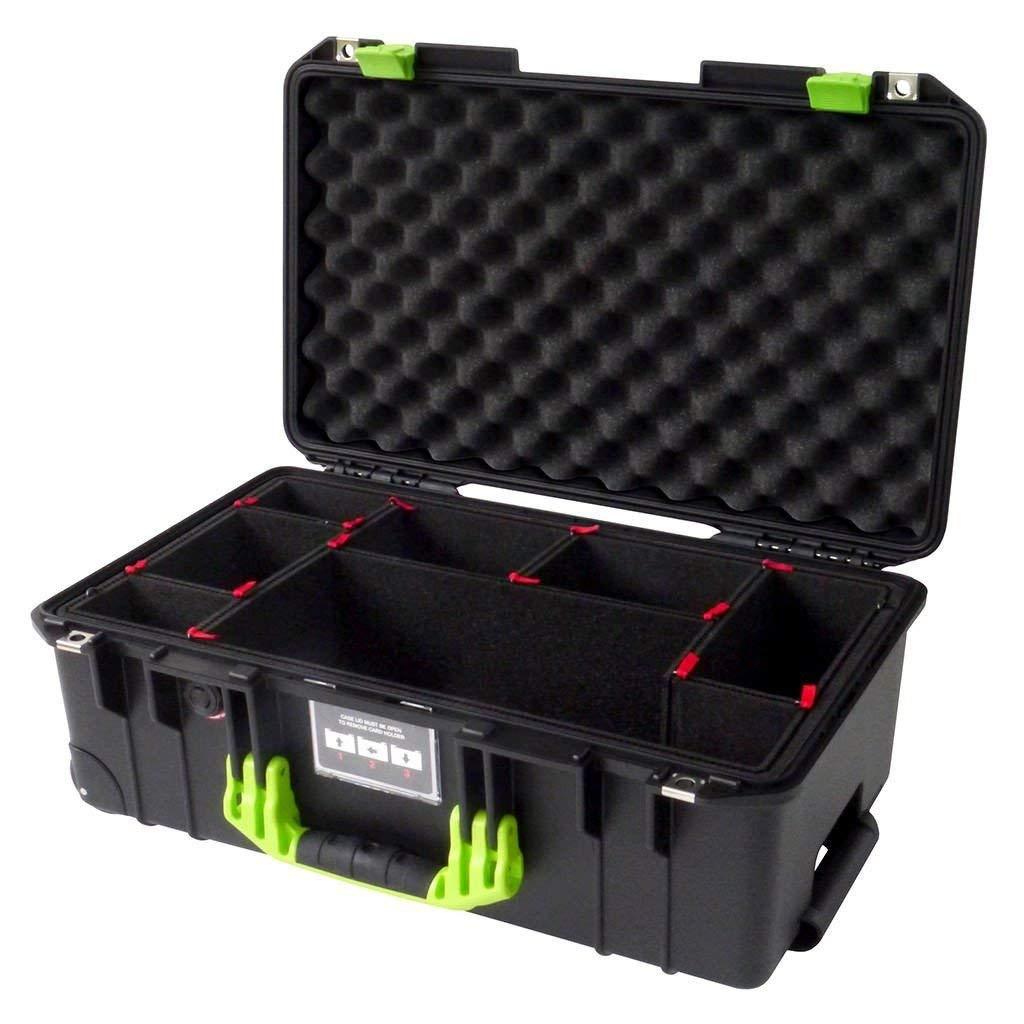 Black & Lime Green 1535 エアケース TrekPak仕切り付き   B07NRK9SVQ