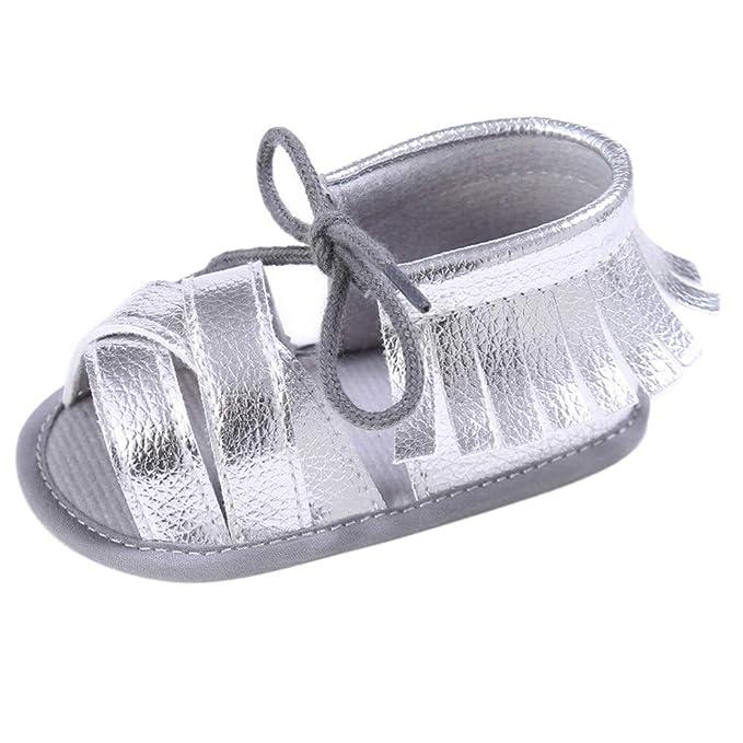 14f52439b27f Scarpe Bambina, MEIbax Bambine Scarpe da Principessa Sandali Stringati con  Frange Mary Jane Ragazza Tacco