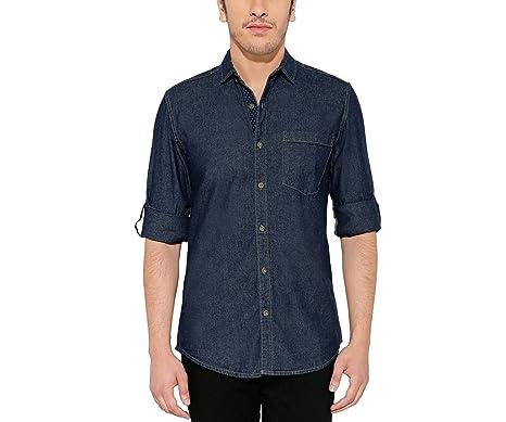 843400e81b4 Nick   Jess Men s Denim Slim Fit Shirt (Blue