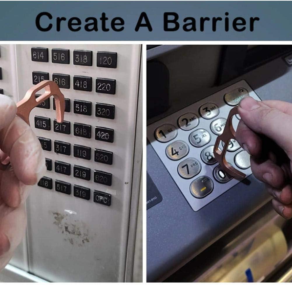 No-Touch Door Opener Portable Press Elevator Hand Stick Keychain EDC Door Opener Hygiene Hand Brass Door Opener Closer Keep Hands Clean