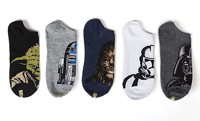 Star Wars No-Show Socks 5 Pack