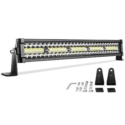 LED Light Bar 22'' DWVO 300W Straight Triple Row 20000LM Upgrade Chipset Led Work Light for Off Road Driving Fog Lamp Marine Boating IP68 WATERPROOF Spot & Flood Combo Beam Light Bars: Automotive