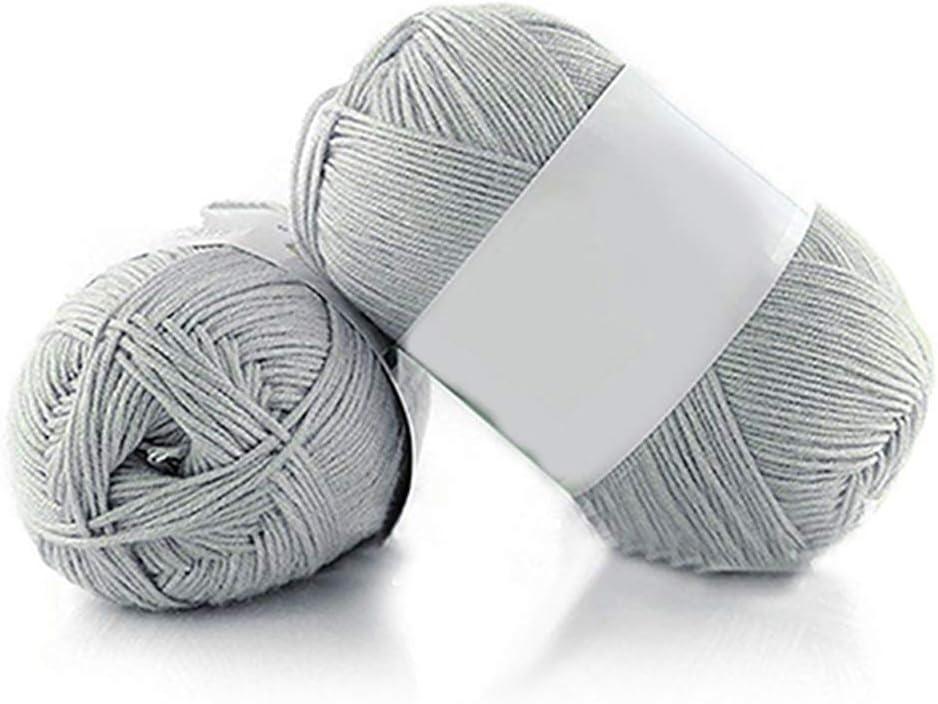 Geshiglobal – Ovillo de lana de bambú supersuave, transpirable, para tejer a mano, 50 g, para bebé 13.: Amazon.es: Hogar