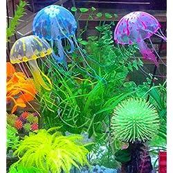 "Hot Sale! 5.5"" Glowing Effect Artificial Jellyfish Fish Tank Aquarium Decoration Ornament (5.5"", Green)"
