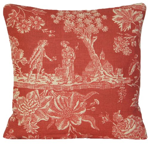 Toile Design Pillow Throw Case French Style Cushion Cover Marvic Textiles Lovers Fabric Vintage Style