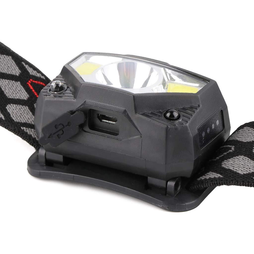 Zhoujinf-USB Lade Induktion Kleine Scheinwerfer LED Infrarot Starkes Licht Induktionsfischen /Ändern K/öder Lichter Outdoor Mini Nachtfischen Liefert