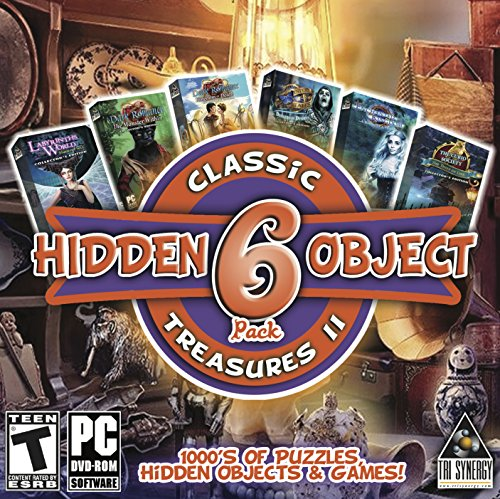 Hidden Object Classic Treasures II - 6 Great Games - Collectors Editions Included (10 Best Computer Games)