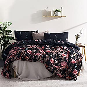 Leadtimes Queen/Full/ King Lightweight Printed Pattern Microfiber Duvet Cover Set, Soft Bedding Set 2 Pillow Shams and 1 duvet cover (Queen, Style8)