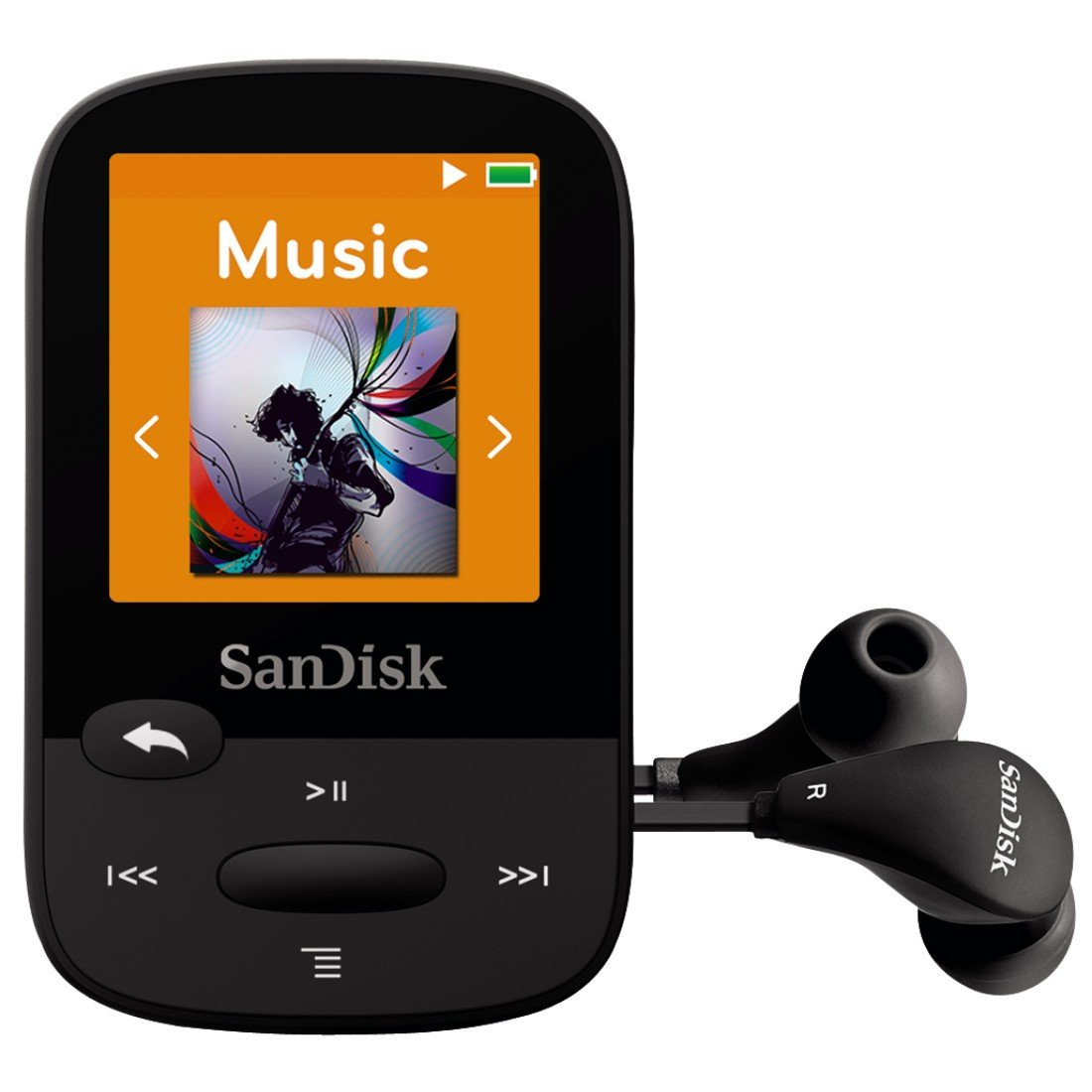 Amazon SanDisk Clip Sport 4GB MP3 Player Black With LCD Screen And MicroSDHC Card Slot SDMX24 004G G46K Home Audio Theater