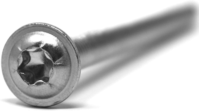 ISR,TX M6 x 60 mm, 10 St/ück 10 St/ück Linsenkopfschraube mit Flansch und Innensechsrund//Torx rostfreier Edelstahl A2,V2A,Vollgewinde,Flanschschraube,Flachkopfschraube nach Norm: ISO 7380-2