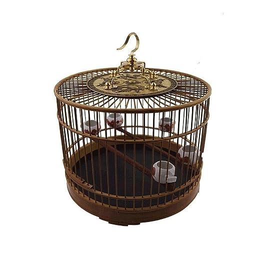 Zoe home Jaulas de pájaros de bambú Retro Jaulas de Loros ...