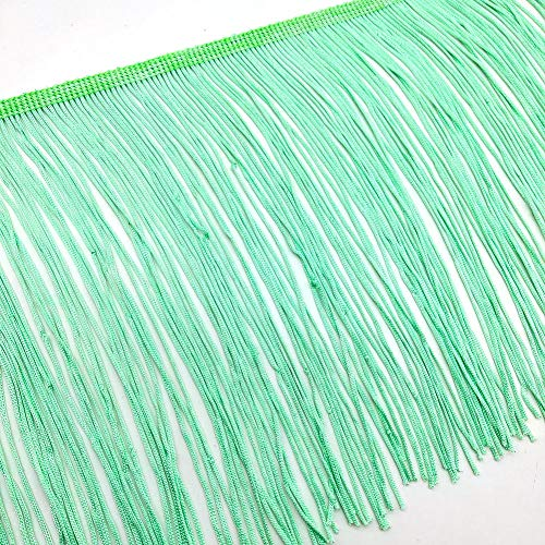(2 Yards Fringe Tassel Trim 20CM Wide Fringe Trim (Mint Green))