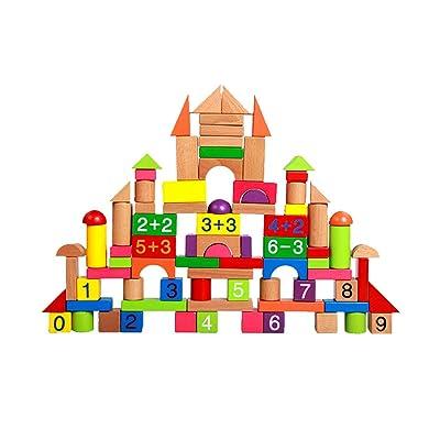 KINGEE Bloque De Construcción Bloques De Construcción De Madera para Niños Juguetes Educativos Bloques De Construcción Juegos De Construcción El Pensamiento Y Promover El Desarrollo del Cerebro: Deportes y aire libre