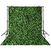 Funnytree 5x7ft photography backdrop Leaves wall green nature baby shower children background photo studio photocall