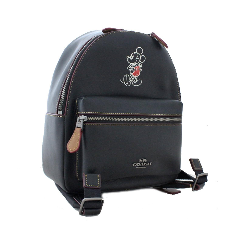 COACH (コーチ) ディズニー ミッキーマウス ミニ リュック レディース デイパック ブラック 黒色F59837 ディズニー限定コラボコレクション(中古) B0776PYFRF