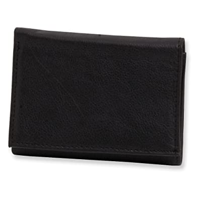 25f518fc387d Image Unavailable. Image not available for. Color: Jewelry Adviser Gifts  Mens Black Leather Tri-fold Wallet