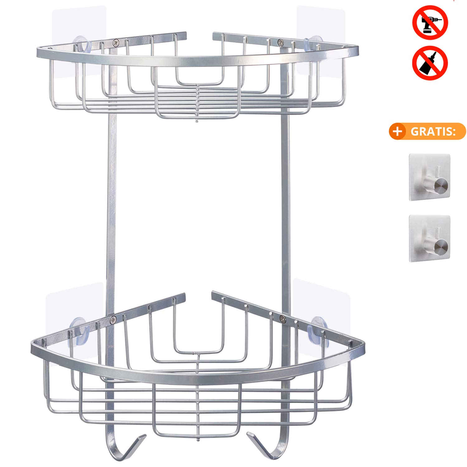 Bathroom Shower Corner Storage Shelf Shower Caddy Holder Rack Organizer New VNN